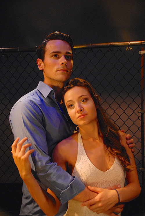 Zach Schanne (Tony) and Julia Paladino (Maria)