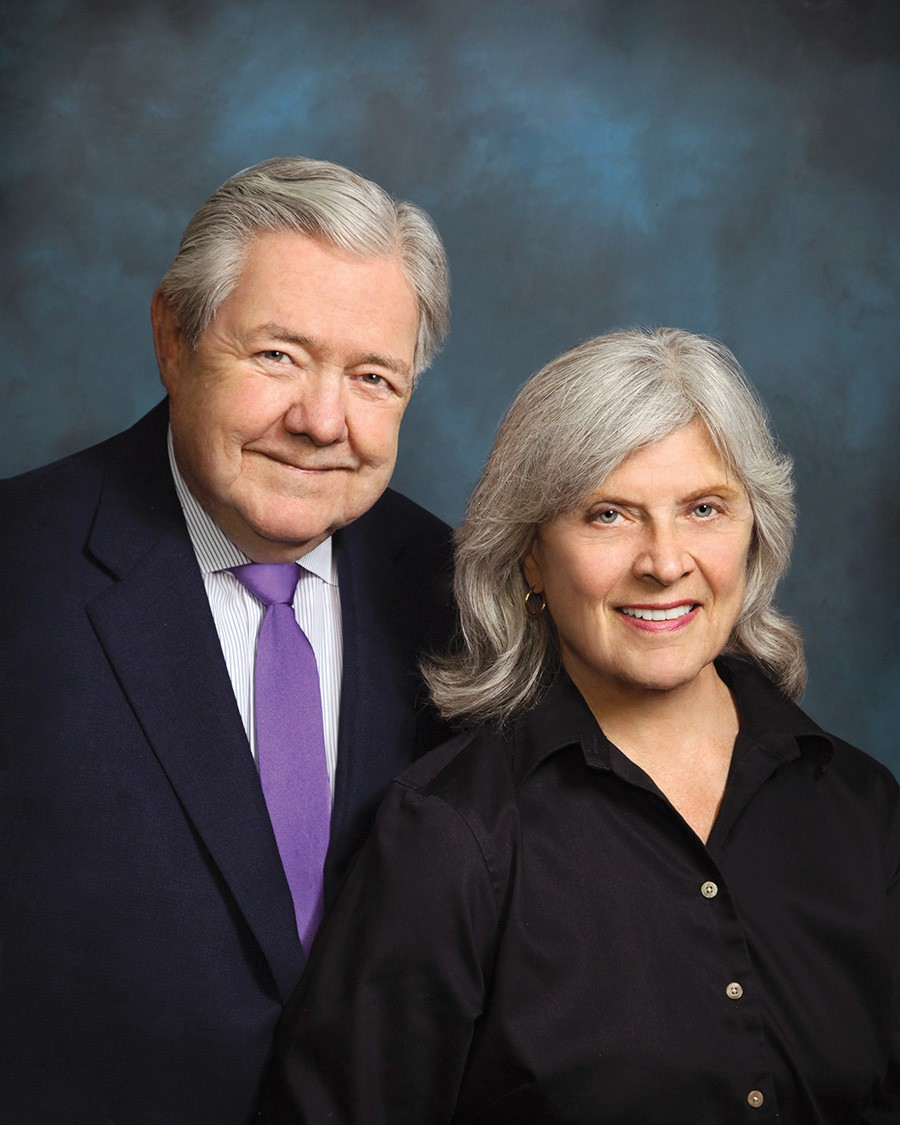 Frank Bennack and Mary Lake Polan